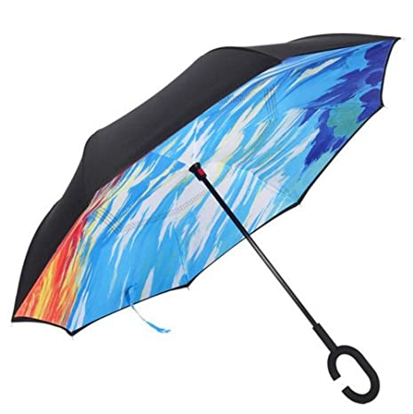 Guoke Retroceso Creativo Negocio Automotriz Paraguas Paraguas Paraguas Lluvia Soleado Chica Con Dos Hombres Y Una