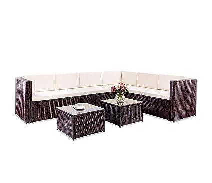 Amazon.com: HOMEHLA TOPMAX Juego de 5 piezas de muebles de ...
