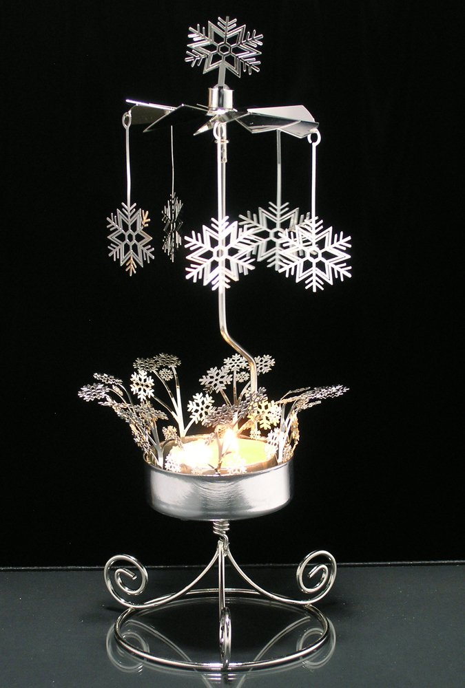 """""""Spinning Snowflake Candle Holder - Rotary Candleholder"""""""