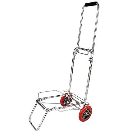 004c701c98b0 Glive's Folding Stainless Steel Luggage Cart 2 Wheel Travel Luggage ...