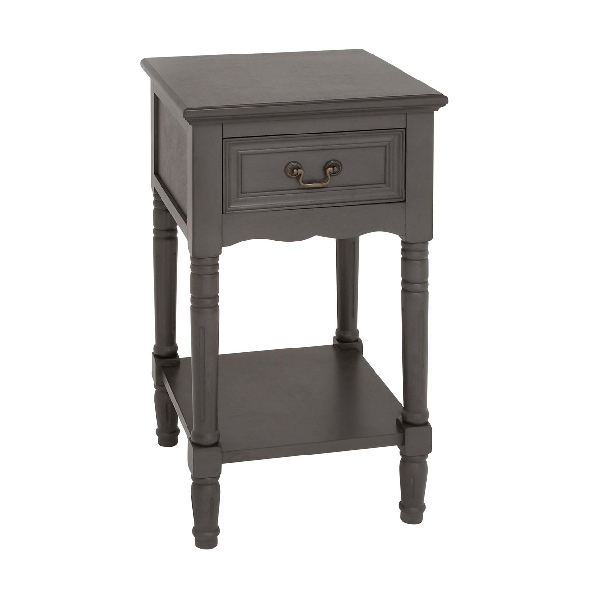 Amazon.com: Urban Designs Solid Wood Night Stand Table, Antiqued White:  Home U0026 Kitchen