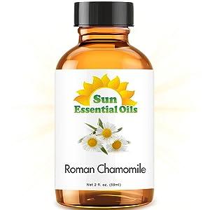 Roman Chamomile Essential Oil (Huge 2oz Bottle) Bulk Roman Chamomile Oil - 2 Ounce
