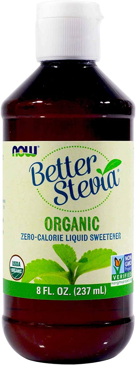 NOW FOODS ORGANIC BETTER STEVIA, 8 OUNCE, 2-PACK