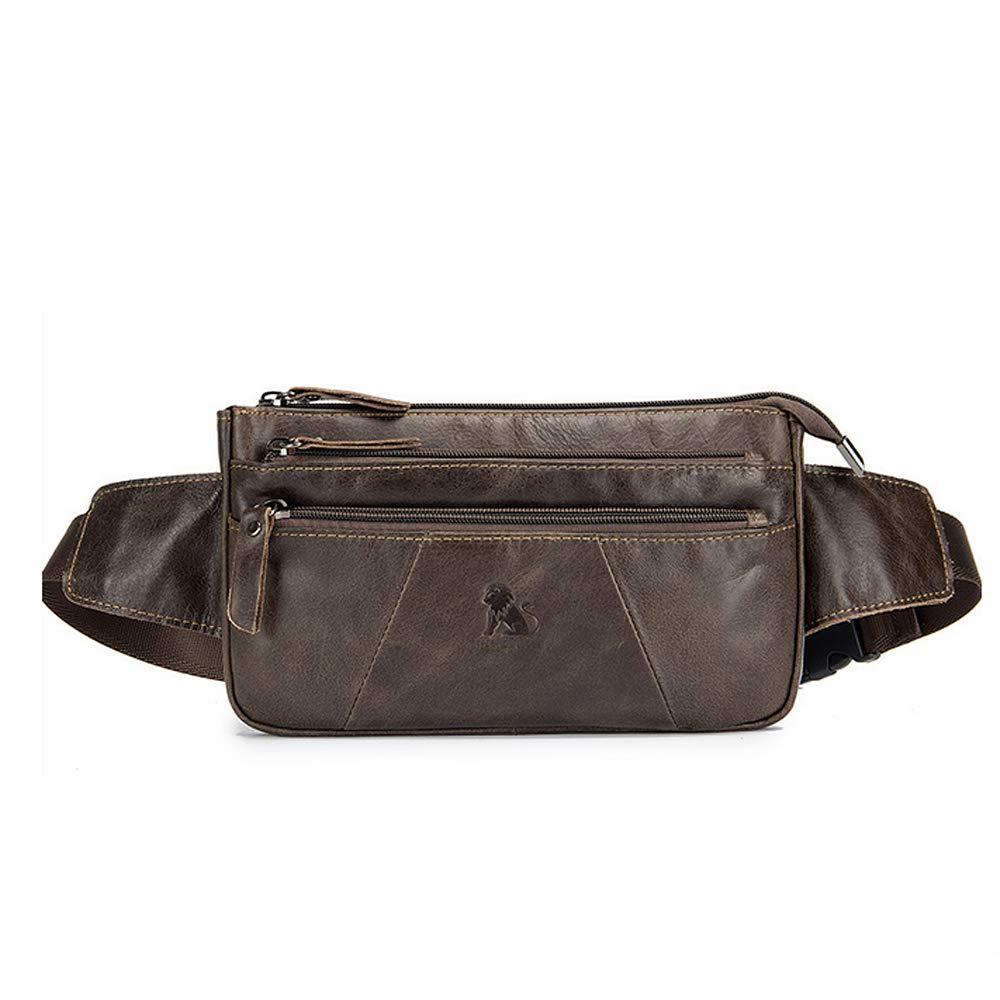 2812180d58 Amazon.com | BISON DENIM Leather Waist Pack Fanny Pack Men's Hip Purse  Travel Hiking Bum Bag Belt Bag (Vintage Brown) | Waist Packs