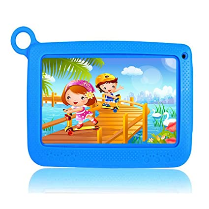 Tablet para Niños 7 Pulgadas WiFi Android 6.0 Quad Core 2GB RAM 32 GB ROM Bluetooth HD 1024x600, Google Play y Control Parental preinstalado - Azul
