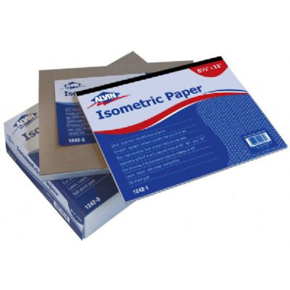 Alvin Isométrico 30-Sheet - Almohadilla de papel, 21,6 x 27,9 cm (1242-1): Amazon.es: Industria, empresas y ciencia