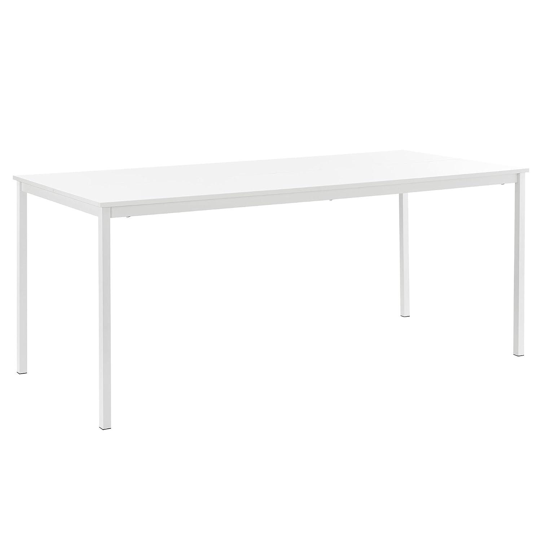 [en.casa]® - table à manger design - (180cm x 80cm x 75cm) - blanc
