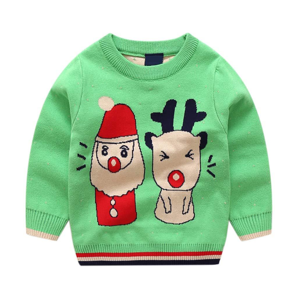 Bambino Natale Maglione Inverno Pullover a Maglia Manica Lunga Retro Cervo Outfits 1-2 Anni ShenzhenWindyTradingCo. Ltd