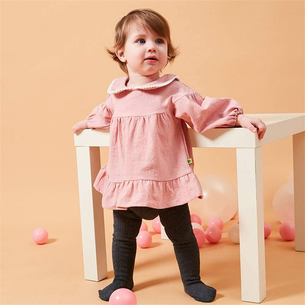 MAOMAHREWW Little Toddler Girls Lace Cotton Dress Long Sleeve Pleated Skirt Outfit