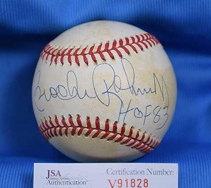 cbb8decf330 Brooks Robinson Autographed Baseball - HOF 83 Coa American League OAL - JSA  Certified - Autographed