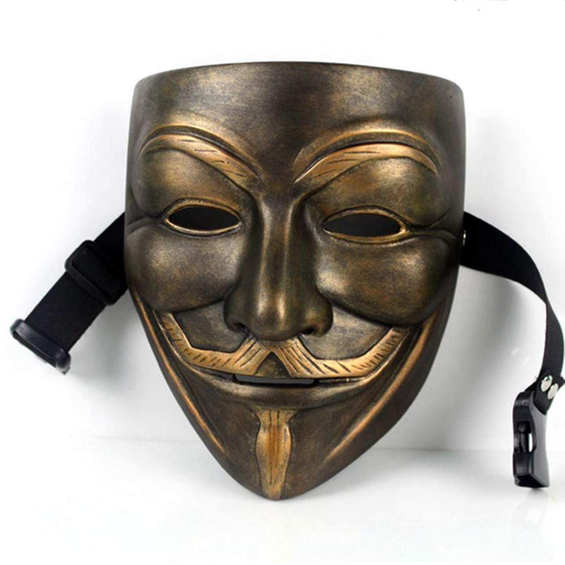 V for Vendetta Mask Anonymous Movie Guy Fawkes Halloween Masquerade Party Face March Protest Costume Accessory