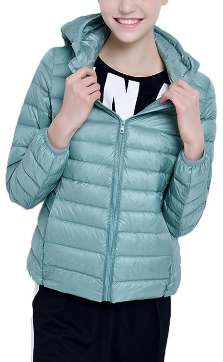 Mochoose Damen Daunenjacke klassische Mit Kapuze Packbar Ultra Leicht  Gewicht Mantel Daunenmantel: Amazon.de: Bekleidung