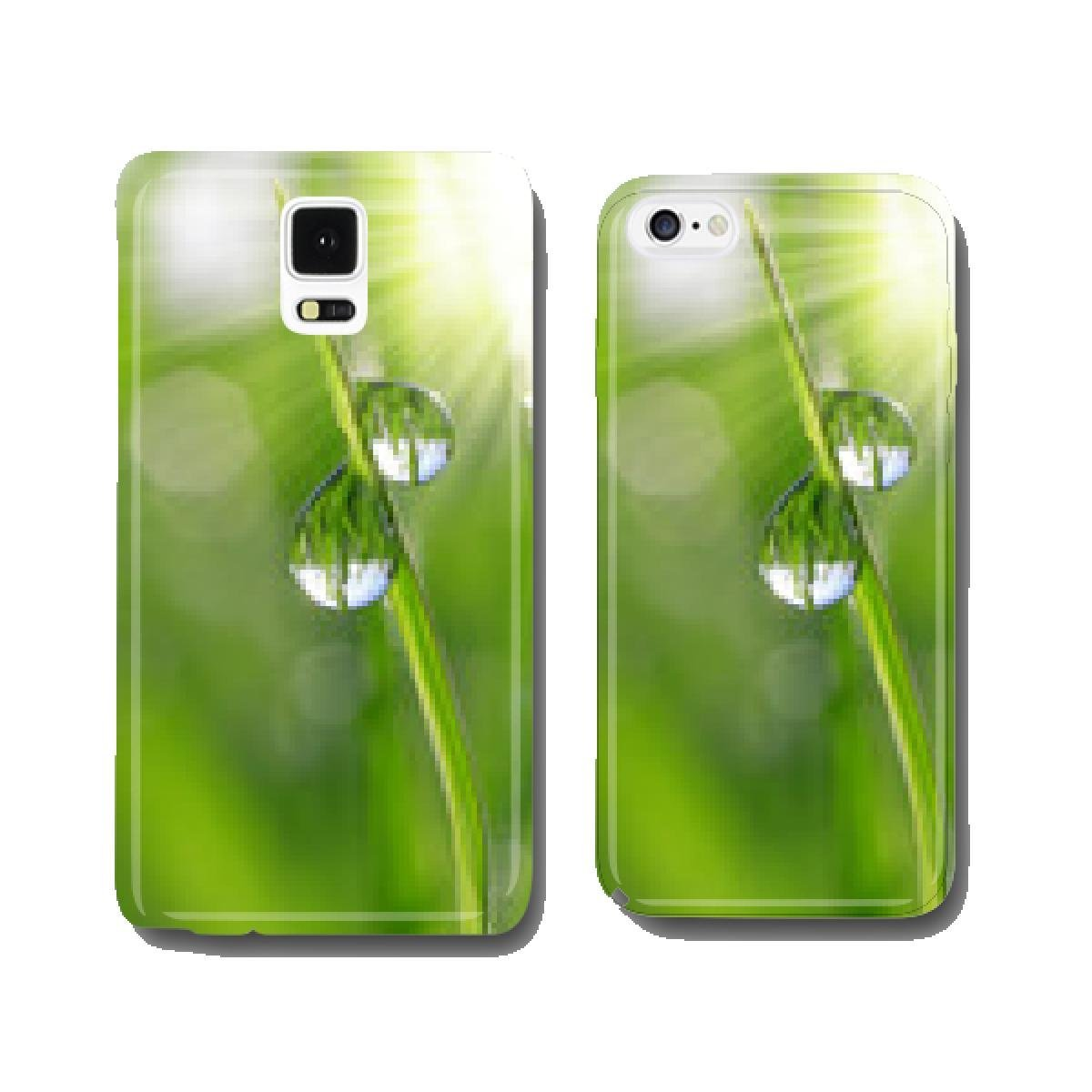 Fresh grass with dew drops close up cell phone cover case