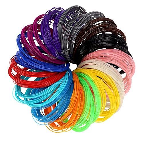 LANMU-3D-Filament-Recharges-Imprimante-3D-Pen-Filament-Recharges-Filament-Recharges-PLA-175mm-Paquet-de-14-diffrentes-couleurs-Comprend-4-Glow-in-the-Dark-dans-20-Longueurs-pied