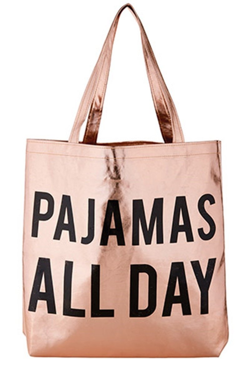 Coco + Ollie Womens Pajamas All Day Tote Bag, 15 Inch