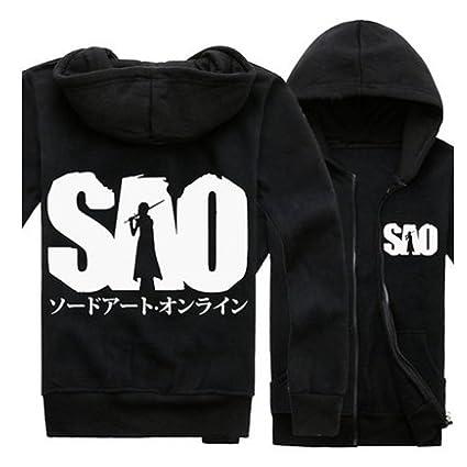Sword Art Online SAO Kirigaya kazuto Logo Manga Larga Sudaderas con capucha Coat