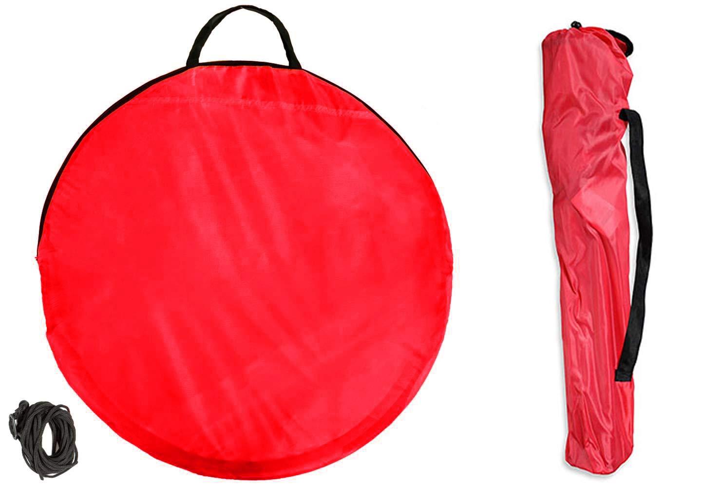 Plage Jardin Sac Portable et l/éger Rouge Parapluie en m/étal avec accoudoirs takestop/® Chaise Pliante avec Pare-Soleil pour Camping Porte-gobelet