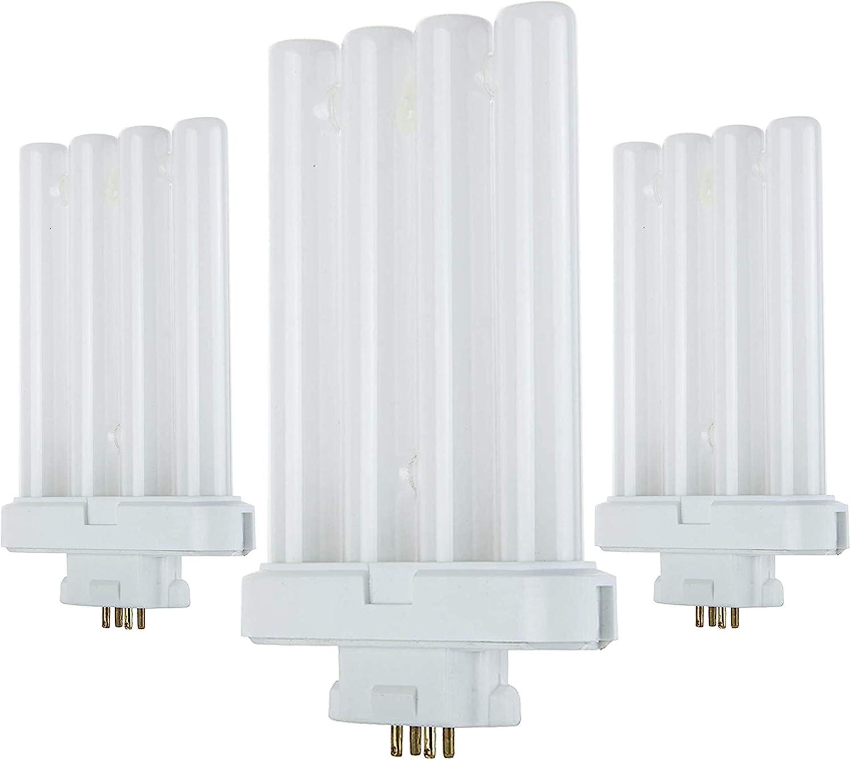 Fluorescent Light Tube, FML27 4 pin Base Light Bulb, 27 watt, 6500K, Light at 1500 Lumens, Laborate Lighting (3)