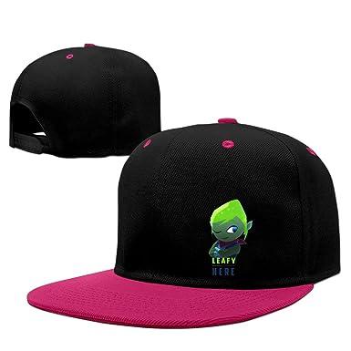YONLY Youtube LeafyIsHere Logo Hip-Hop Cap: Amazon co uk