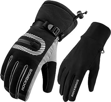 ROCKBROS Winter Velvet Warm Gloves Ski Gloves Ridding Gloves Motocycle Gloves