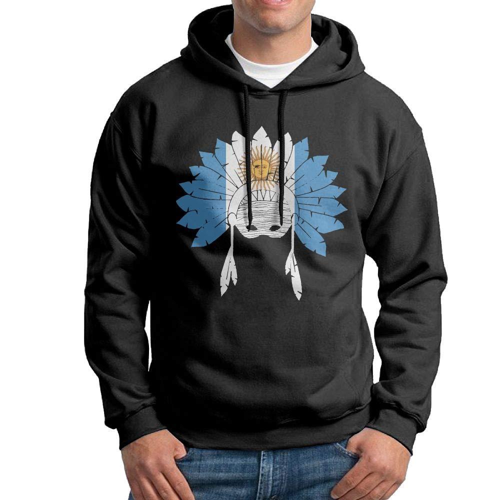 Men Pullover Hoodies Argentina Native American Long Sleeve Fleece Hooded Sweatshirt Sweater Blouses Tops
