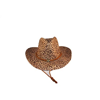 5d06a2f87 Amazon.com: Leopard print Cowboy hat: Sports & Outdoors