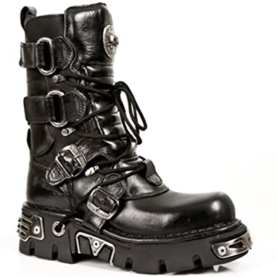 1a0b8ab15 Amazon.com | New Rock Boots Unisex Style 575 S1 Black | Mid-Calf