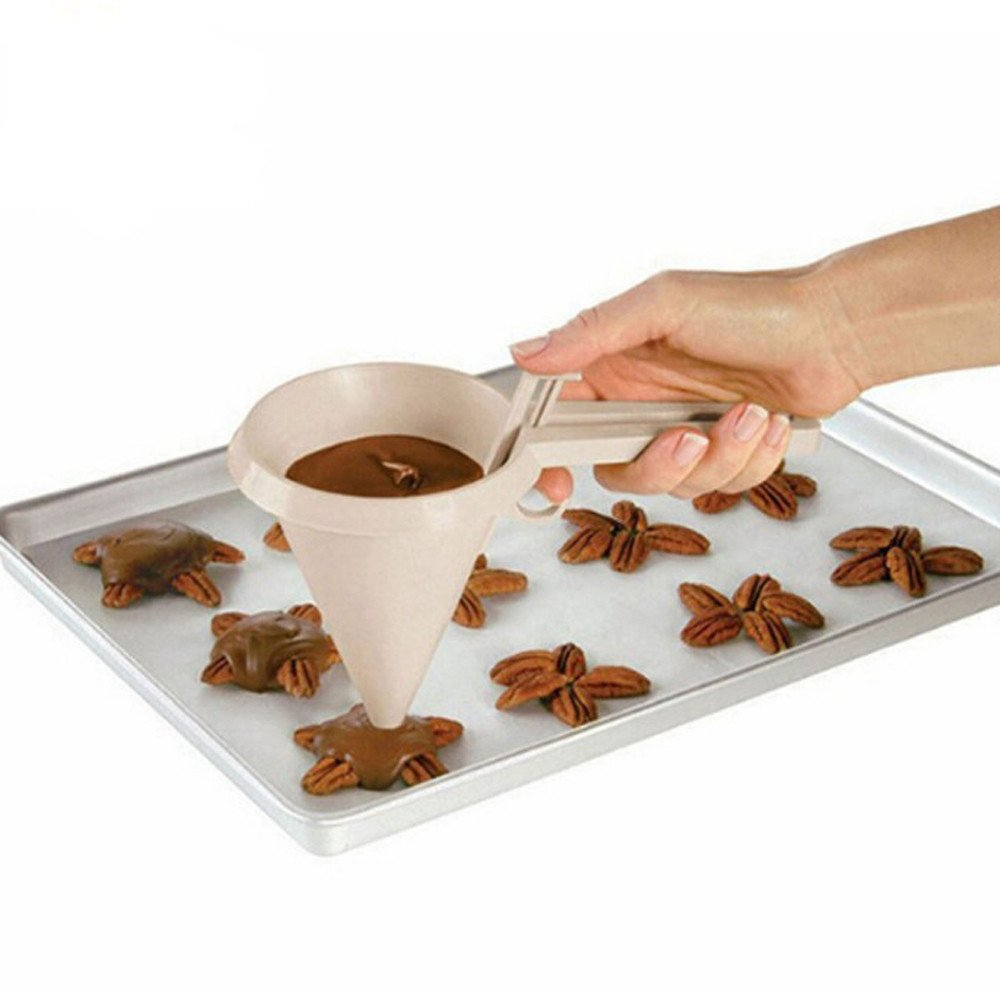 Kitchen Funnel, St.Dona Hot Sale Adjustable Chocolate Cream Funnel Baking Cake Decorating Tools