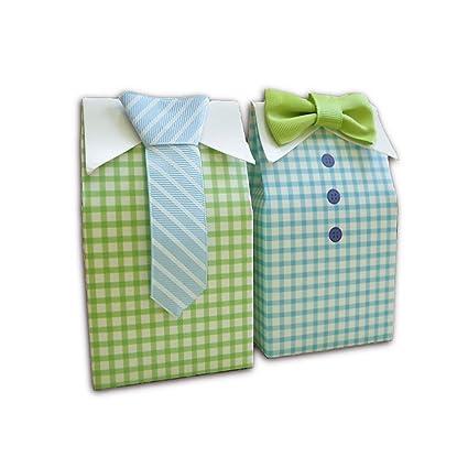 Caja Kingsley de cartón con forma de camisa con corbata para recuerdos de boda, bautizo