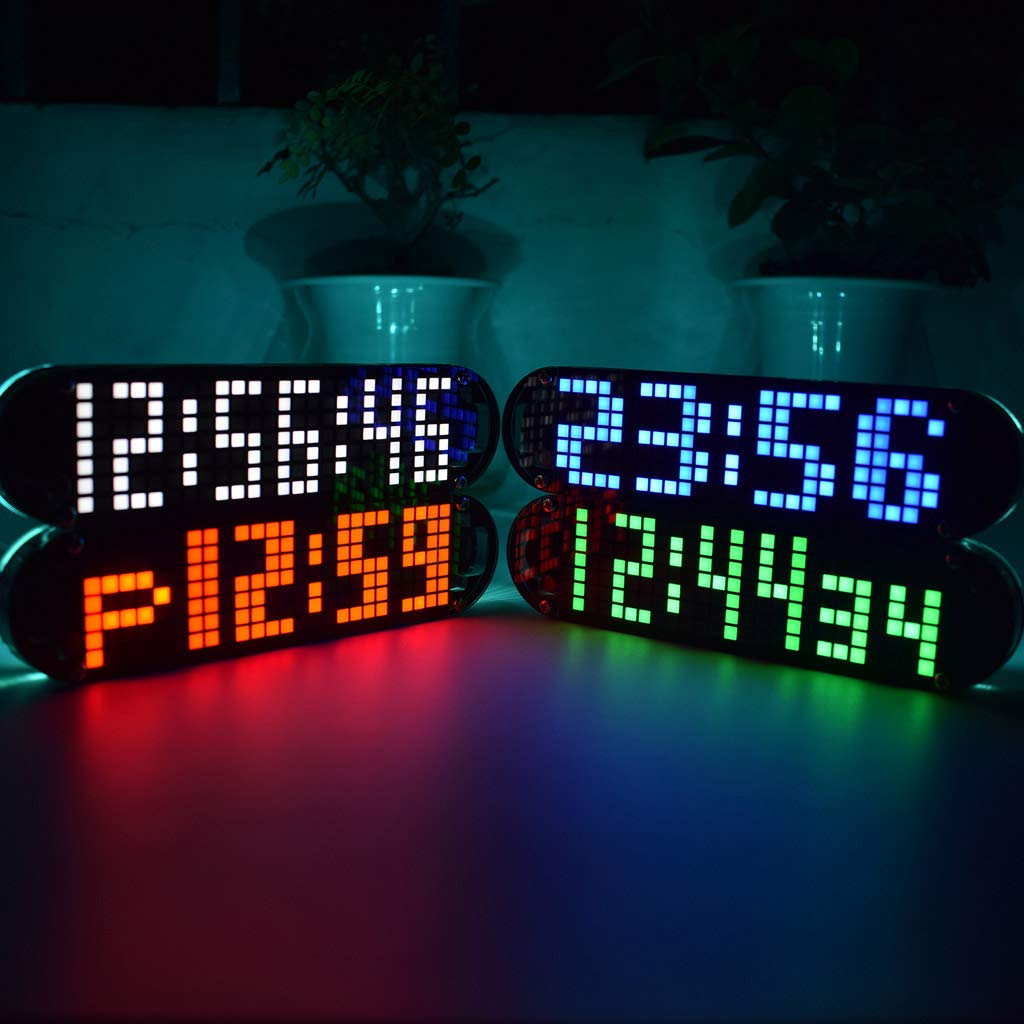 DS3231 Multifunction Alarm Clock LED Dot Matrix Animation Effects DIY Kit Gifts