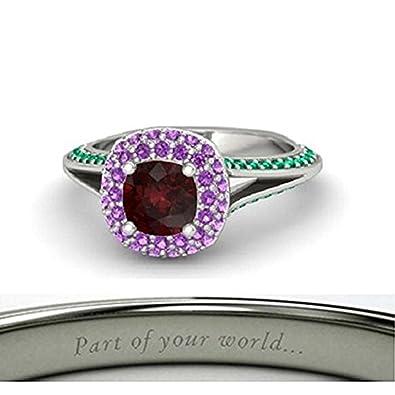 Amazoncom 925 Sterling Silver Plating Disney Ariel Princess Ring