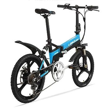 LETFF - Bicicleta eléctrica Plegable para Adulto, 48 V, batería de Litio de 7