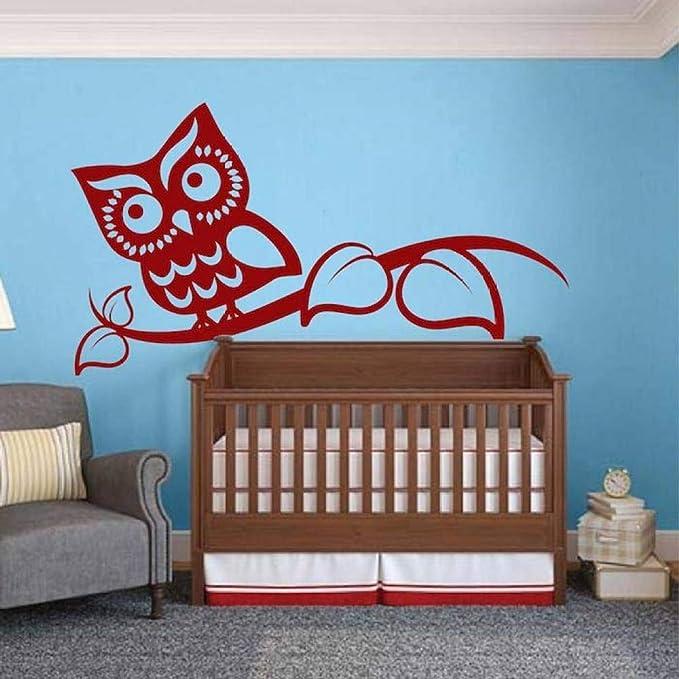 Geiqianjiumai Smart Owl Wall Sticker Art Design Baby Kindergarten ...