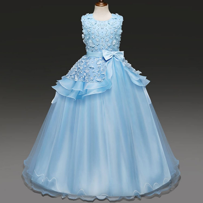 Amazon.com: IWEMEK Girls Tulle Lace Embroidery Princess Pageant ...