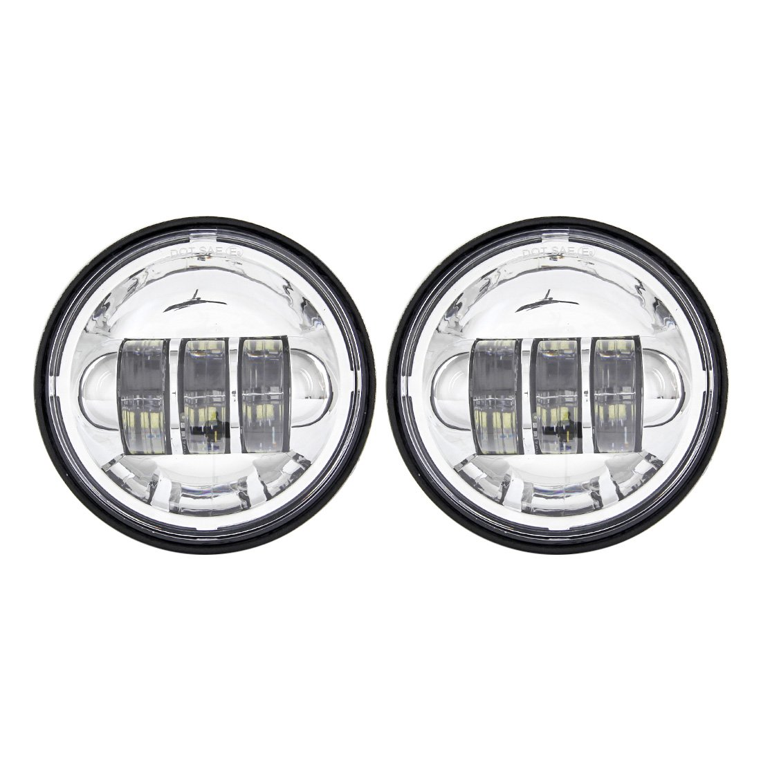 2PCS Cromo 4.5 Pollici 30 W LED Nebbia Ausiliario Fari Moto Passing Fog Light Lamp Per Harley Davidson