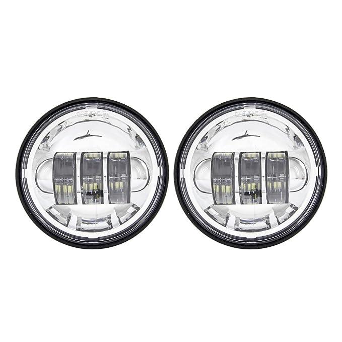 1 opinioni per 2PCS Cromo 4.5 Pollici 30 W LED Nebbia Ausiliario Fari Moto Passing Fog Light