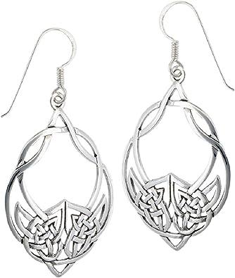 Celtic Knot Scotland Handmade Edinburgh Scottish Jewellery Celtic Jewellery Viking Celtic Knot Drop Earrings Sterling Silver