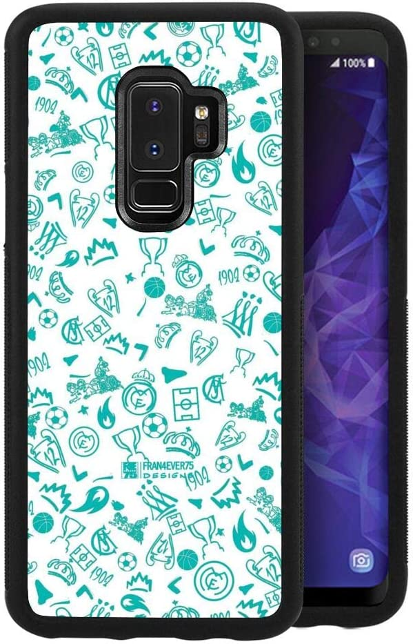 Amazon Com Case Fit For Galaxy S9 Plus 2018 6 2 Background Pattern Real Madrid Sport Wallpaper Whatsapp Electronics