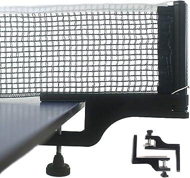 Kilcvt Ping Pong Net, Juego de bastidores de Red de Tenis de Mesa estándar, Ajustable en Cualquier Mesa, Mesa de Ping Pong, Escritorio de Oficina, Cocina casera o Mesa de Comedor: Amazon.es:
