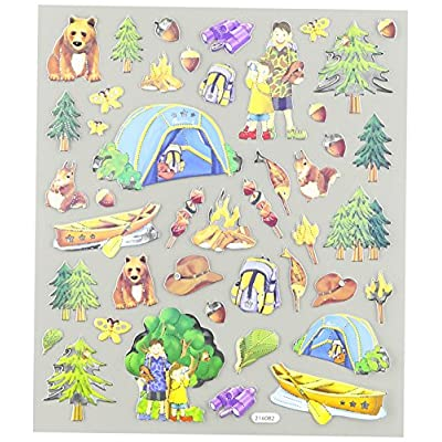 Tattoo King Multi-Colored Stickers-Camping Trip: Arts, Crafts & Sewing