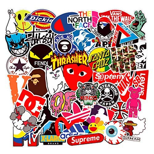 Fashion Sticker - Street Fashion Sticker Decals(101pcs), BENYU Supreme Laptop Vinyl Stickers for Waterbottle,Hydro Flask,Snowboard,Luggage,Motorcycle,iPhone,MacBook,Wall,DIY Party Supplie Patches Decal