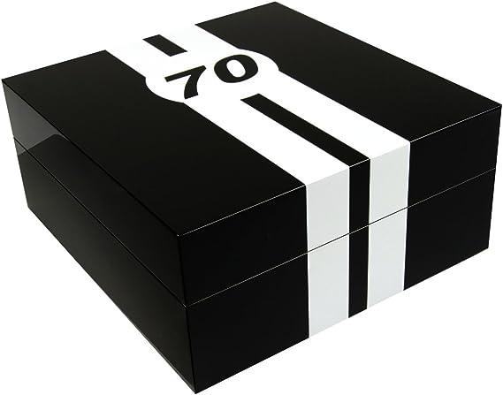 Caja guarda relojes Le Mans 70 piano negro, 4 relojes: Amazon.es: Relojes