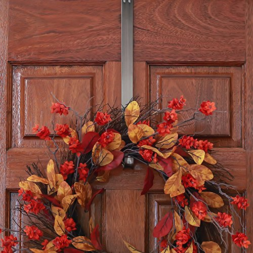 Adjustable Length Wreath Hanger, 20 lb Capacity (Brushed Nickel) by Haute Decor (Image #8)