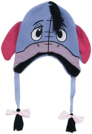 9383bbefc11 Amazon.com  Winnie The Pooh - Unisex-Adult - Eeyore Big Face Peruvian Knit  Hat Multi  Clothing