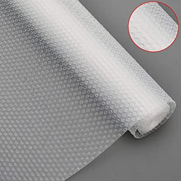 Bloss Plastic Shelf Liners Cabinet Drawer Liner Non Slip Shelf Liner Non Adhesive Refrigerator Mat Cupboard Pad No Odor For Kitchen Home Clear 17 7