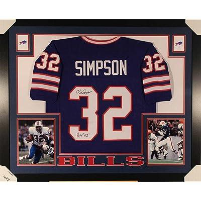 new product 3f445 3c551 Autographed O.J. Simpson Jersey - OJ Framed Blue 10857 - JSA ...