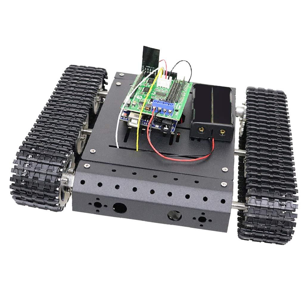 Almencla Panzer Chassis DIY Roboter Panzer Chassis Kit Auto Licht Stoß Reibungsloser Betrieb, Höhere Haltbarkeit Und Stabilität