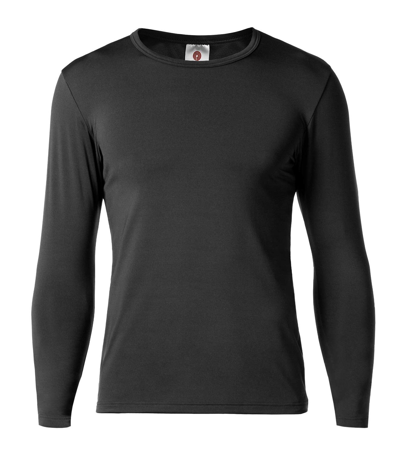 LAPASA Men's Thermal Underwear Tops Fleece Lined Base Layer Long Sleeve Shirts 1 Pack M09 (L Chest 41''-43'' Sleeve 23.6'', Lightweight Black1) by LAPASA
