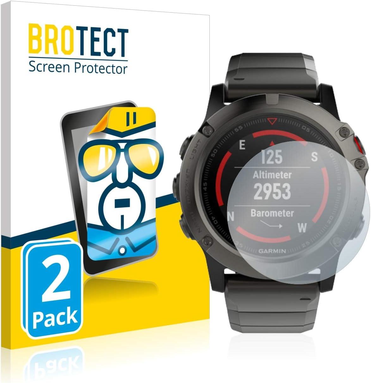 BROTECT Protector Pantalla Compatible con Garmin Fenix 5X (51 mm ...