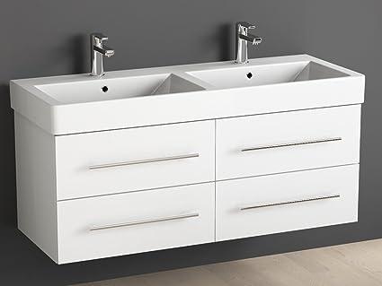Aqua bagno mobile bagno 120 cm con doppio lavabo bagno in ceramica